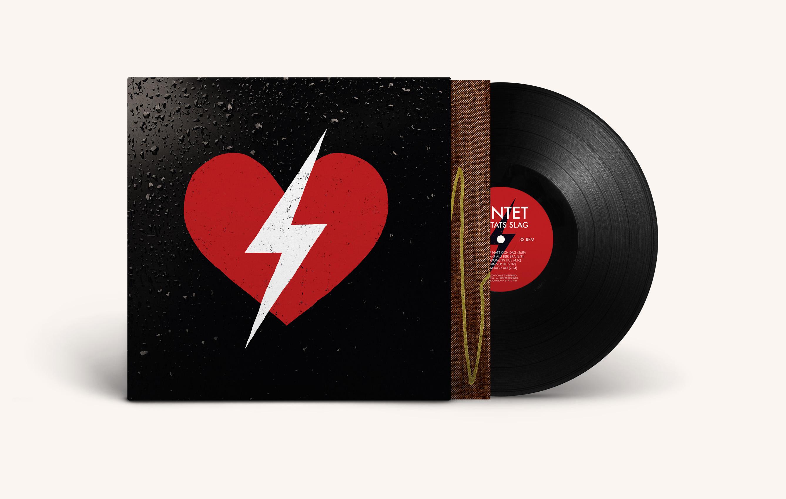 Syntet Hjärtats slag LP omslag